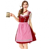 New Bavarian plus size traditional German beer girl dresses Oktoberfest maid clothes