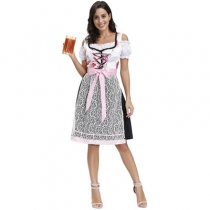 New German Bavarian national flower dress beer girl performance uniform beer girl