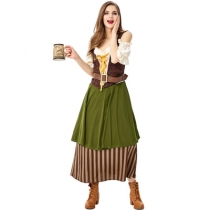European and American Halloween Costumes Germany Oktoberfest Costume Beer Girl Women's Pub Girl Costume