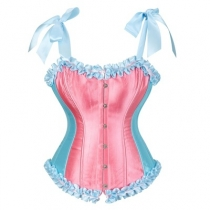 Candy-colored shapewear cute girly Japanese court corset with adjustable straps