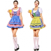 Blue-green German traditional Oktoberfest event costumes, high-quality Munich beer costumes, stage performance costumes, costumes