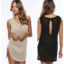 Sexy cover up beach dress hollow out easy charming for ladies