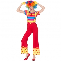 2019 Color Magician Clown Costume Cosplay Clown Costume Halloween Costume
