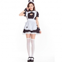2019 new Halloween costumes stage costumes coffee waiter uniforms cute kittens
