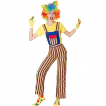 2019 Halloween Magician Clown Costume Cosplay with Wig Costume Stage Performance Costume