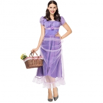 2019 new real shot fairy tale stage performance costumes movie role-playing COS clothing purple princess dress