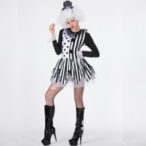 2019 Halloween Magic Cosplay Costume Cosplay Clown with Wig Stage Performance Clown