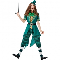 2019 Halloween Carnival Irish Leprechaun Family Dress Up St. Parik Carnival Costume Stage Performance Costume