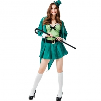 2019 Easter St. Parik Festival Costume Irish Elf Adult Female Magician Cosplay Costume