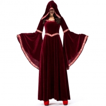 2019 new Halloween black vampire wizard costume European retro court costume