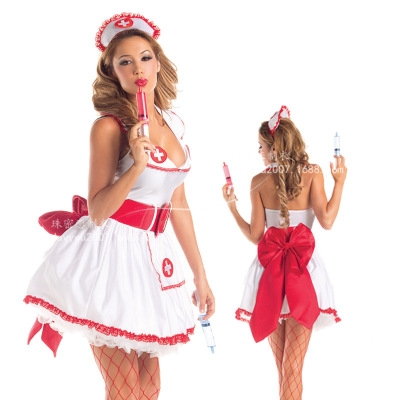 European and American erotic lingerie nurse uniform temptation suit COSPLAY nurse club role playing