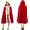 Christmas Cape Cloak Little Red Riding Hood Christmas Cloak Children's Party Stage Costume Christmas Costume Adult