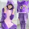 Purple cat adult flannel Stitch animal one-piece pajamas cartoon men and women winter