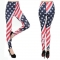 Star stripes American flag printed milk silk leggings female thin section stretch feet nine-point pants