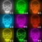 Hot sale explosion white skull head glow cold light Halloween mask led ghost head horror atmosphere
