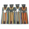 Rainbow striped strap 2.5cm adult strap clip for men and women seven color rainbow striped elastic suspenders wholesale