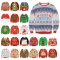 2020 Christmas plus size women's round neck loose pullover women's sweater tops in Europe and America