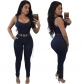 2017 Amazon standard code Europe and the United States selling fashion women's Slim casual jumpsuit with belt