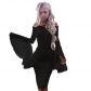 2018 white lace wrapped chest collar strapless trumpet long sleeve Slim package hip dress skirt sexy