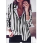 New casual striped candy color long-sleeved shirt shirt women's clothing