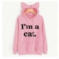 Autumn new foreign trade personality cool hooded letter sweater top