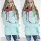 Autumn and winter women's long-sleeved zipper color matching thin sweater