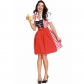 Bavarian National Traditional Costume Polyester Cotton Red German Oktoberfest Clothing Bar Maid Costume