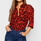 2019 hot sale explosions Europe and the United States spring sexy leopard print V-neck long-sleeved women's chiffon shirt