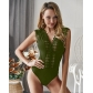 Hot sale 2019 summer new V-neck lace sexy jumpsuit