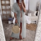 Women's New Products 2019 Summer Lace Cardigan Solid Color Holiday Dress Dress